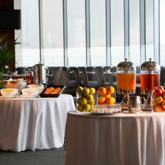 Breakfast buffet at Metro Hotel Dublin Airport. Metro Hotel near Dublin Airport is serving continental and cooked breakfast daily